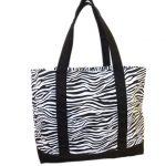 Tote bag, zebra print tote bags canvas tote bags