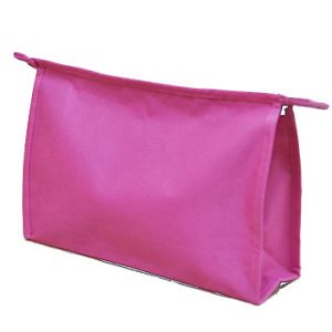 Cosmetic Bag. Heavy weight polyester material. Solid color
