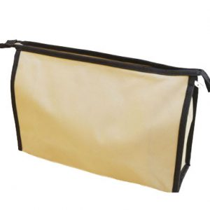 Cosmetic Bags. Made with heavy weight polyester.
