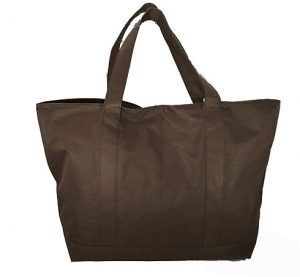 Brown tote bag. Tote bag