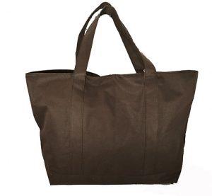 Brown tote bag. Tote bag