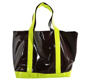 vinyle tote, tote bag, shopping bags